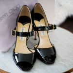 Jimmy Choo Lumiere Patent Black Shoes