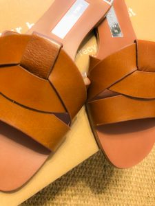 Soft Tan Leather on Zara Crossover Sandals