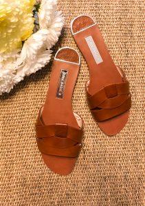 Zara Crossover Leather Sandals - Rebecca Denise