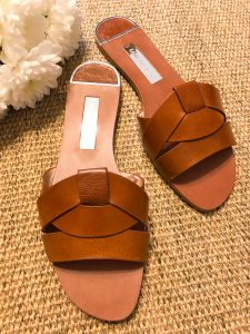 Leather Crossover Sandals by Zara - Rebecca Denise