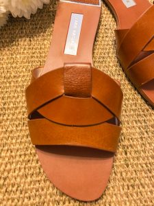 Leather on the Zara Crossover Leather Sandals
