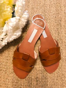 Leather Crossover Sandals by Zara on Rebecca Denise Blog