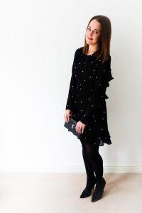 ASOS Honey Punch Tea Dress worn by Rebecca Denise Fashion Blogger