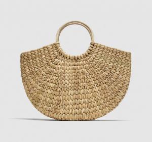 Zara Straw Bag with Round Handle