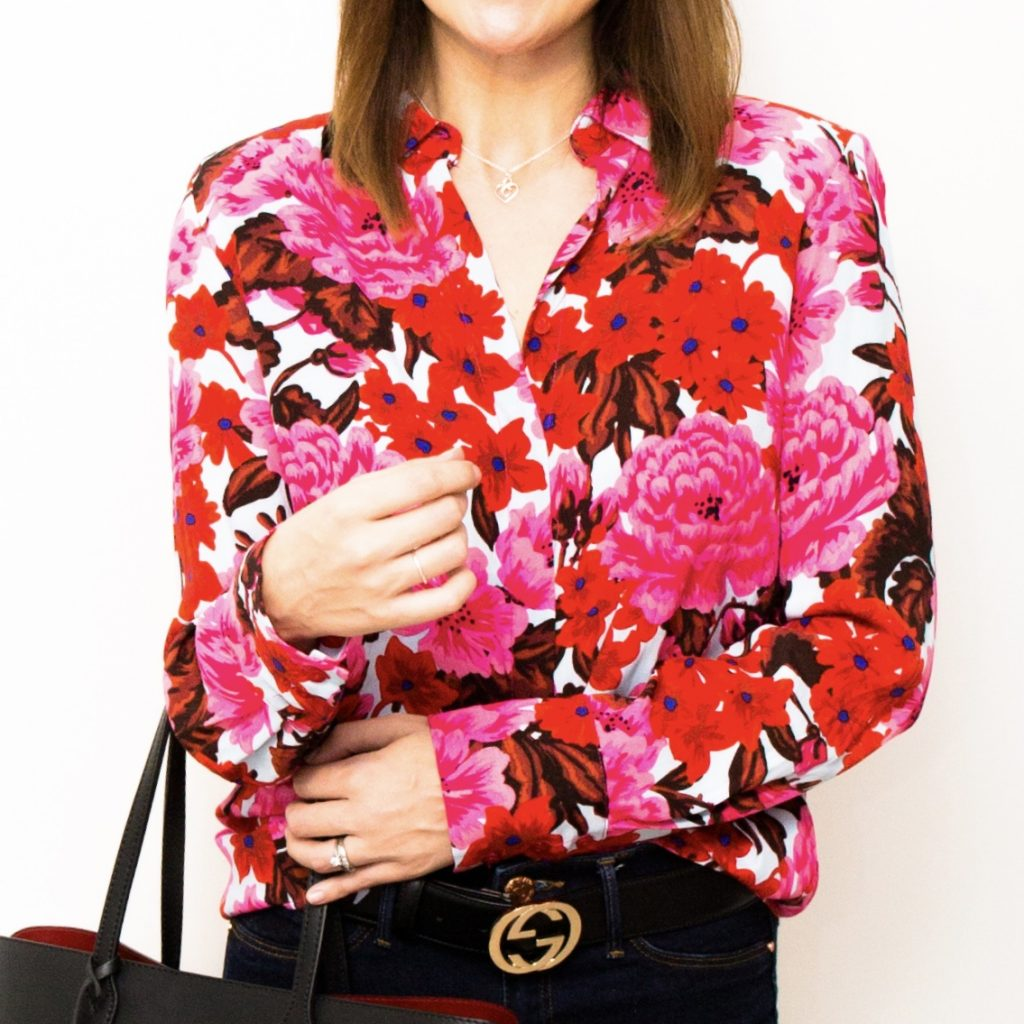 Zara Multicoloured Pink and Red Shirt