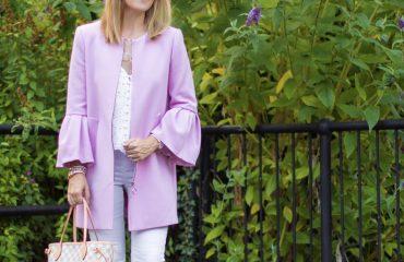 Rebecca Denise in Pink Coat